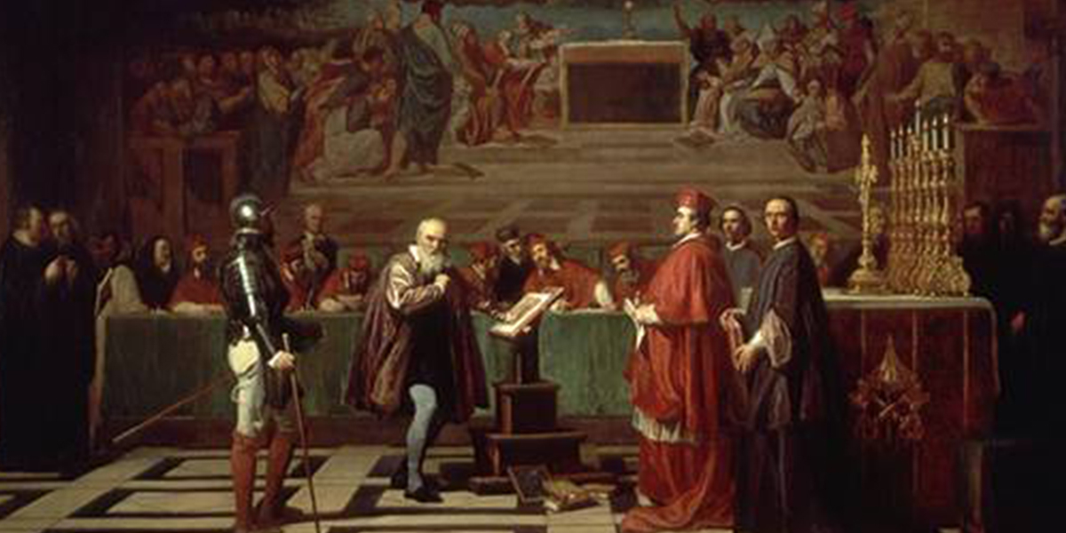 "the censorship of roman catholic church on galileo galileis ideas The 70-year-old galileo galilei knelt before his judges and read a signed confession in humble repentance, stating, ""i abjure with a sincere heart and unfeigned faith, i curse and detest the ."