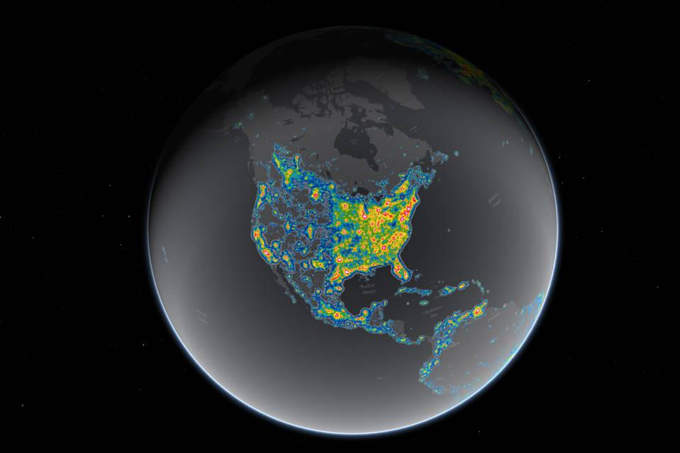 SHOCKER Of USA Cant Can No Longer See Milky Way Science Vibe - Globe of usa