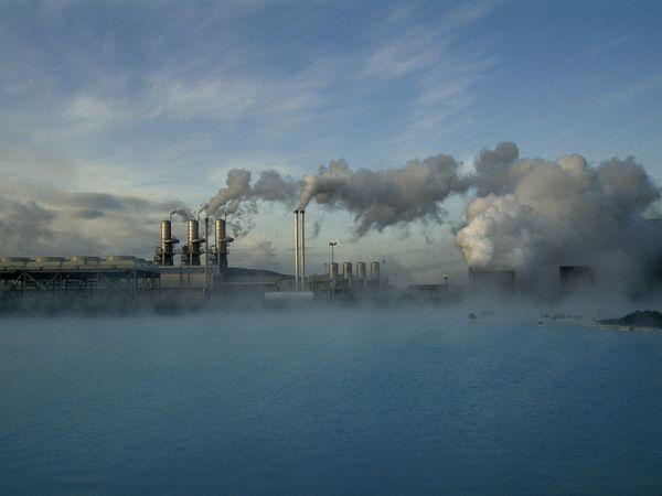 This Ggeothermal power plant in Reykjavik, Iceland,