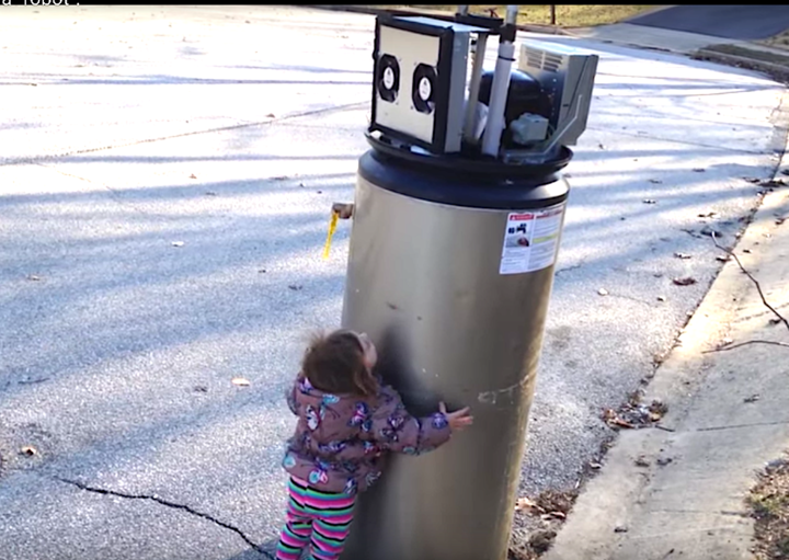 Adorable Young Girl Mistakes Water Heater For A Robot ...