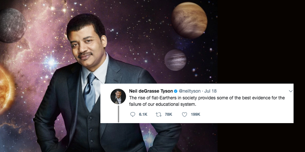 Neil deGrasse Tyson Blames Schools For Flat-Earthers's ...