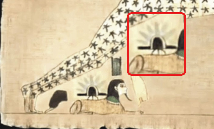 Does This Ancient Egyptian Papyrus Show UFO landing On Sphinx?