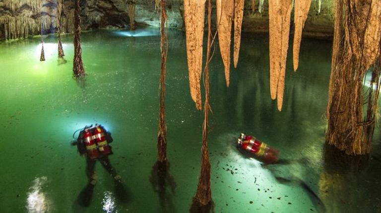 Underwater Cave of Mayan Secrets
